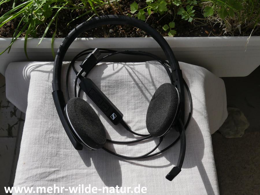kabelgebundenes Headset von Sennheiser mit USB-Anschluss